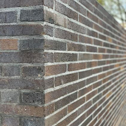 Brick fence in Newcastle laid with feature brickwork